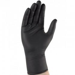 Gant nitrile noir Usage unique. AQL 1,5. Boîte distributrice de 100 gants.