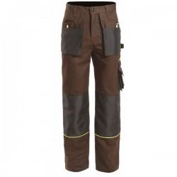 Pantalon de travail multi poches solides - Marron